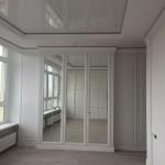 Набор шкафов в гардеробную. ЛДСп Ламарти Белый Премиум, фасады МДФ Супермат Милк.