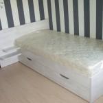 Кровать односпальная. ЛДСП Lamarty 26 мм. Цвет - Выбеленое Дерево.