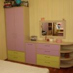 Набор мебели для детской. ЛДСП Ламарти Дуб Выбеленый 26\16 мм. Фасады пластик Abet Laminati.