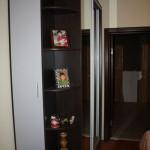 Шкаф -купе. радусный сегмент с распашной дверью.