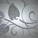 """Нуар. Рисунок - парча """"Серебро"""", фон - пленка ORACAL """"Серый""""."""