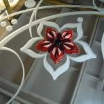 Пескоструйный рисунок на зеркале+фьюзинг(запеченное стекло).